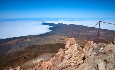 View from the Mount Teide summit, Tenerife, Spain.