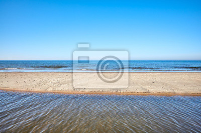 View of a beach with shallow water