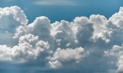 View of a scenic cloudscape, natural background.