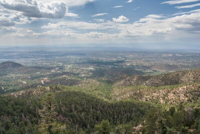 View of Santa Fe, New Mexico from Atalaya  Mountain