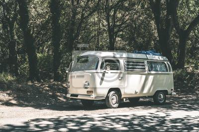 Obraz vintage autobusem