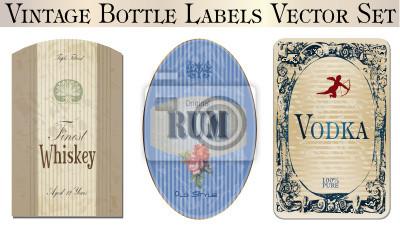 Vintage etykietach butelek