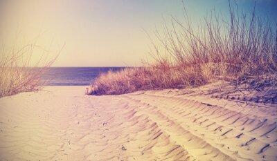 Vintage filtrowany plaża, tło natura lub banner.