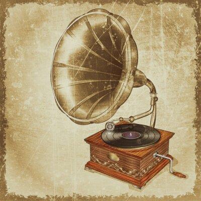 Obraz Vintage gramofon