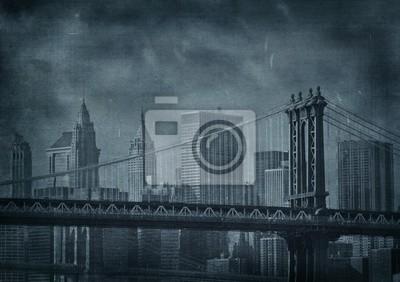 Vintage grunge obraz Nowego Jorku