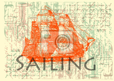 Vintage Label - Sailing