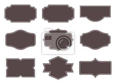 Obraz Vintage labels. Retro frames set. Vector