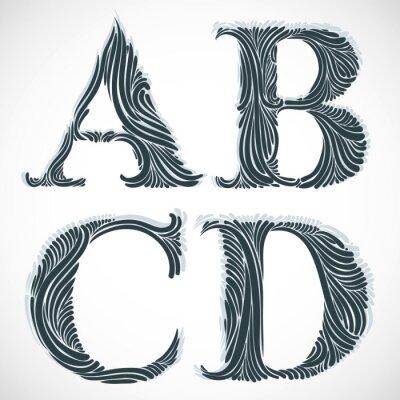 Obraz Vintage litery ABC D.