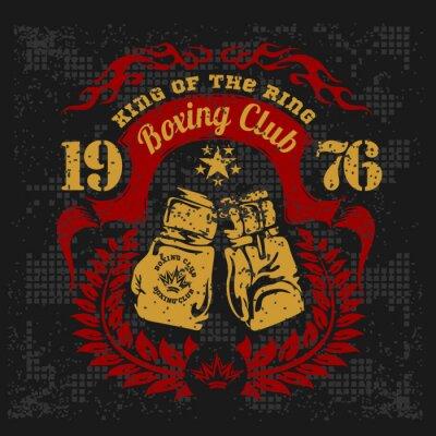 Obraz Vintage logo na boks na tle grunge