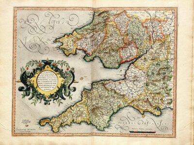 Obraz Vintage mapie