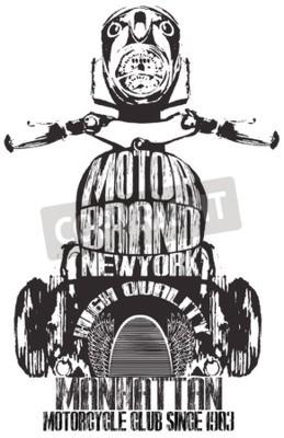 Obraz Vintage Motocyklowe Projekt Graficzny