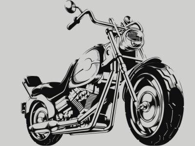 Obraz Vintage Motorcycle Vector Silhouette