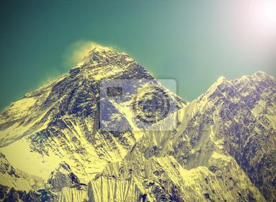Vintage obraz Everest Mountain, Nepalu.
