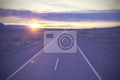 Vintage obraz słynnej drodze nr 40, w Patagonii.