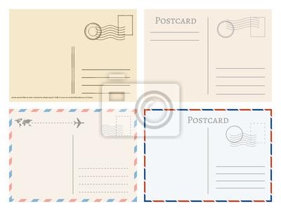 Obraz Vintage papierowe pocztówki. Pozdrowienia z pocztówka szablon wektor