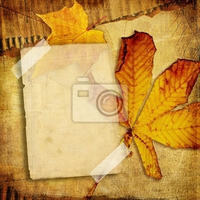 Vintage photo-album jesień