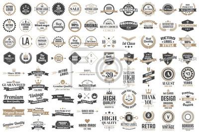 Obraz Vintage Retro Logo wektor na baner