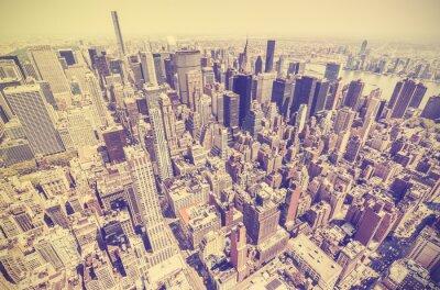 Obraz Vintage retro stonowanych widok na Manhattan, NYC.