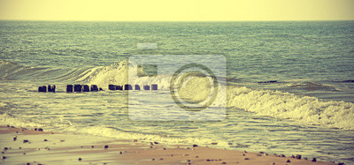 Vintage Retro stylem morze zdjęcie tła.