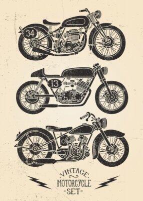 Obraz Vintage Set Motorcycle