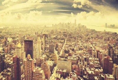 Obraz Vintage stonowanych Manhattan, Nowy Jork, USA.