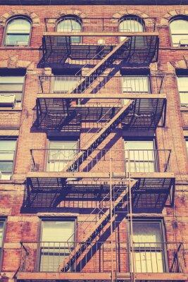Obraz Vintage style zdjęcie budynku w Nowym Jorku, USA.