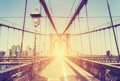 Obraz Vintage stylizowany obraz Brooklyn Bridge, Nowy Jork.