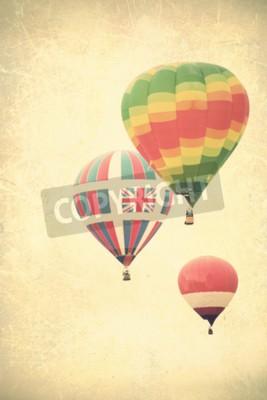 Obraz Vintage teksturowane balony w locie