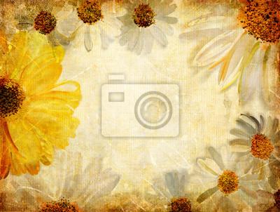 vintage tle z malowane kwiatów granicy