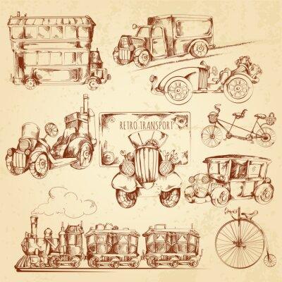 Obraz Vintage Transport Sketch