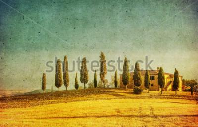 Obraz vintage tuscan landscape