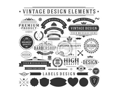 Obraz vintage vector