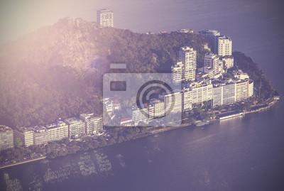 Vintage, widok z lotu ptaka Rio de Janeiro, Brazylia