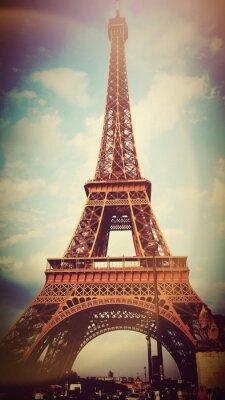 Obraz Vintage Wieża Eiffla we Francji