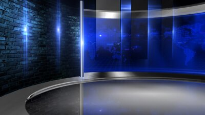 Obraz  Virtual set studio for green footage Realize your vision for a professional-looking studio  wherever you want it. With a simple setup, a few square feet of space, and Virtual Set , you can transform