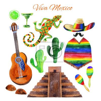 Viva Mexico zestaw akwarela