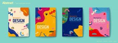 Obraz Vivid color abstract flyer set