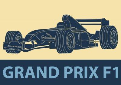 Obraz Voiture de Oczywiście Formule 1