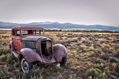 Obraz Voiture rocznika abandonnée - Montana, USA