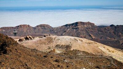Volcanic landscape seen from Mount Teide, Teide National Park, Tenerife, Spain.