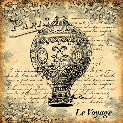 Obraz Voyage en montgolfière
