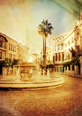 W starym hiszpańskim mieście w stylu grunge i retro. Jerez