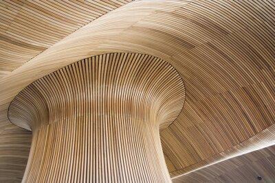Obraz walijski detale architektoniczne budynku Zgromadzenia, Cardiff Bay, u