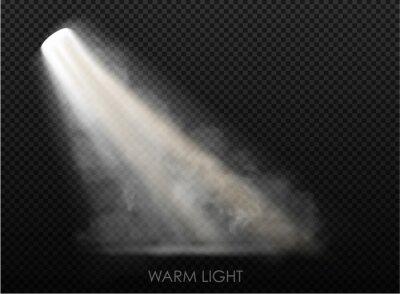Obraz warm light set of bulb on a transparent background