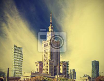 Warszawa (Warszawa) miasto nowoczesne centrum, Polska, rocznika st
