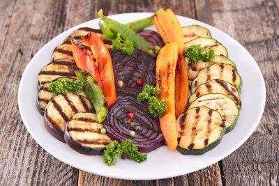 Obraz warzyw z grilla