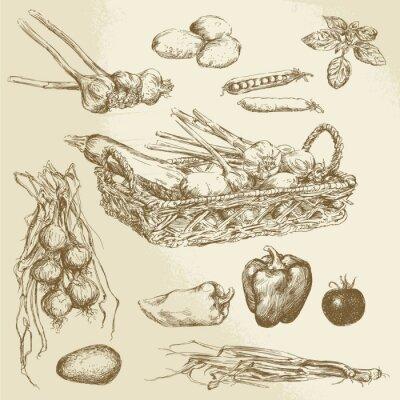 Obraz warzywa - wyciągnąć rękę kolekcja
