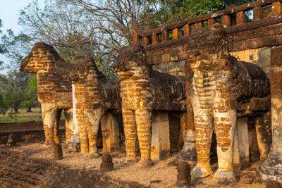 Wat Chang Lom at Si satchanalai historical park,Sukhothai Province,Thailand