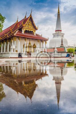 Wat Mahathat świątynia, południowej Tajlandii