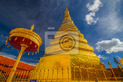 Obraz Wat Phra That Cho Hae Temple, Phare, Tajlandia